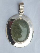925iger Silber Prehnit Anhänger (057)