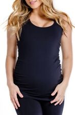 AMARI Size L Womens Maternity Racerback Tank Top Black Stretch