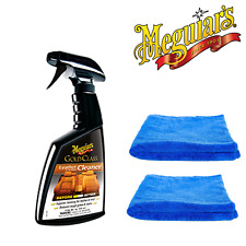 Meguiar's Gold Class Leather Cleaner 473ml & 2 Microfibre Towels