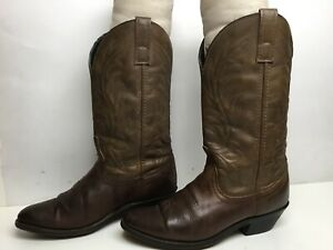 VTG WOMENS UNBRANDED COWBOY BROWN BOOTS SIZE 6.5 M