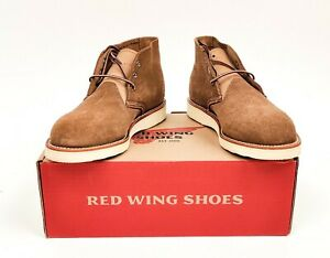 Red Wing 3149 Work Chukka Olive Mohave Roughout, 9 D, US 9 MINT NIB Factory 2nds