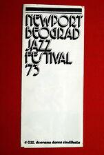 NEWPORT JAZZ FESTIVAL BELGRADE 1973 PROGRAM MILES DAVIS SARAH VAUGHAN B.B.KING
