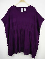 Guess Womens Jumper M 10 12 Knit Crochet Loose Batwing Oversize Top Stretch 71
