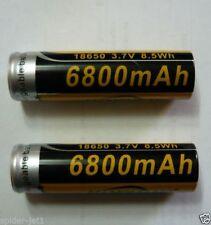 Batteria Ricaricabile 6800 mAh 3.7V 8.5Wh Li-on per torce a LED