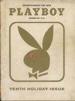 PLAYBOY DECEMBER 1963 Tenth Anniversary Bunny cover Donna Michelle Kim Novak (1)