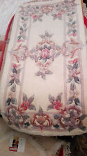 Brand NEW 100% Wool Chinese Rug Runner Carpet 4'x2 Beige  Floral Authentic