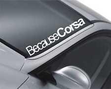 Porque CORSA Pegatina Del Parabrisas Opel JDM Drift coche Bajada Dub M74