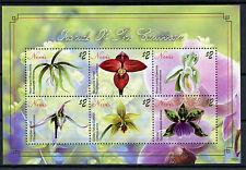 Nevis 2010 MNH Orchids of Caribbean 4v M/S Flowers Flora Brassavola Cranichis
