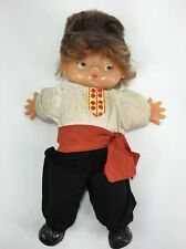 "Vintage Russian Doll  google eyes 16"" Boy Freckles Moscow 1979"