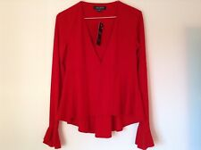 BNWT 100% Auth Ralph Lauren, Ladies Open Up Mexican Red Top / Blazer. XS