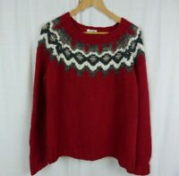 Garnet Hill Long Sleeve Crewneck Sweater Knit Shirt Wool Alpaca Women's Size XL