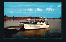 Grand Marais Minnesota MN c1950 2 Wooden Tour Boats, Fishing Boats, Queen & ??