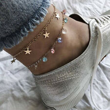 Creative Candy Colorful Beads Glass Pendant Ankle Bracelet New Jewelry