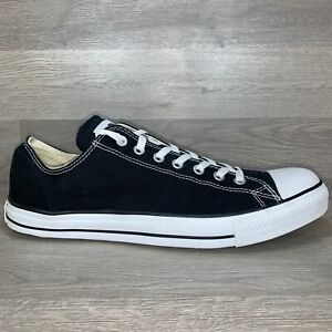 Converse All Star Low Top Lace Up X9166 Mens Shoes Size 14 Black White Original