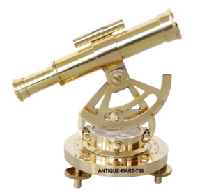 Brass Nautical Antique Style Alidate Telescope With Compass Base Gift Home Decor