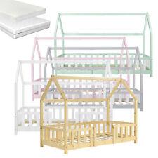 [en.casa] Kinderbett mit Rausfallschutz Haus Bettenhaus Hausbett Bett Matratze