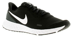 Nike Revolution 5 Mens Running Trainers Gym Shoes Black/White-Anthraci UK Size