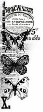 Collage Butterfly Royal Windsor Clear Unmounted Rubber Stamp by Kaisercraft NEW