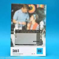 Sokol 4 Volltransistor-Koffersuper 1971 Folleto Publicidad Dewag Hoja de Anuncio