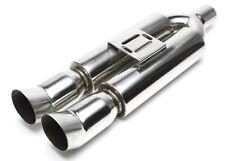 Échappement sport - Silencieux - Universel - double sortie 2x90x100mm DTM oval
