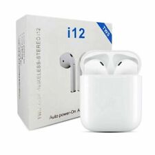New listing i12 Earbuds bluetooth headset sports earphones wireless for iPhone and Android