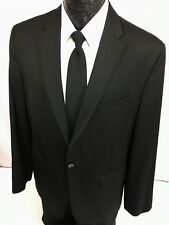 CALVIN KLEIN Men BLACK Sport Coat SLIM FIT Tux DINNER Jacket PROM Blazer TUX L