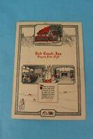 VINTAGE 1948 RED COACH INN SOUVENIR RESTAURANT DINNER MENU, NIAGARA FALLS
