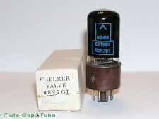 USED MB CHELMER / BRIMAR CV1988 6SN7GTY Black Glass Military tube,Original box