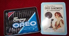 1918 Replica Oreo Tin w/ Original 75th Anniversary Package of Cookies Unopened