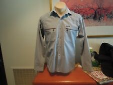 WRANGLER GREY SHIRT ZIPPER POCKETS SIZED SMALL