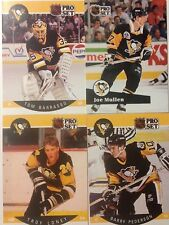 90/91 Pittsburgh Penguins x4 NHL Hockey cards Barasso Loney Stanley Cup Champion