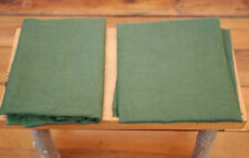 Vintage Olive Hunter Forest Green Woven Linen Cutter Fabric Pieces 2.36 yds