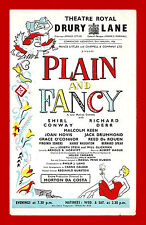 """Shirl Conway """"PLAIN and FANCY"""" Richard Derr / Malcolm Keen 1956 London Flyer"""