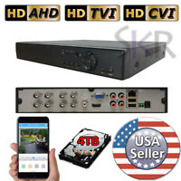 Sikker 8 CH channel DVR Recorder Security System 720P 1080P HDMI 4TB hard drive