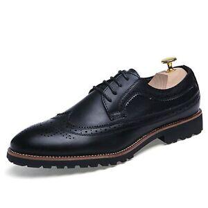 Men's Oxford Casual Fashion Classic Comfortable Non-slip Carving Brogue Shoes