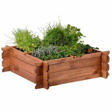 Hochbeet 80x80x24 cm aus Holz mit Stecksystem Beetumrandung Garten