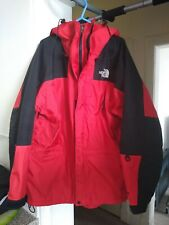 THE NORTH FACE Men's Black / Red Waterproof DryVent Hooded Jacket XL