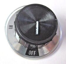 Retro Vintage Dial Knob Aluminum Skirt Oven Cook Top Range Black Burner Control