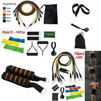 16 Stück Widerstandsbänder Workout Übung Yoga Set Crossfit Fitness Training++