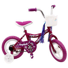"Micargi MBR 12"" Bike Kids Girls BICYCLE w Training Wheels Streamers basket PINK"