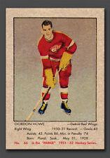 Gordie Howe Rookie Reprint #66, Parkhurst 1951-52 Large Size Card, Mint