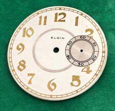 ART DECO ELGIN 12 Size 3' O clock SUB. SECONDS NOS DIAL Gold Plated Arabic 1920