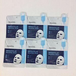 Mediheal Brightclay Mud Face Mask Brightening Stocking Stuffer New Lot Of 6