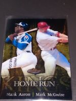1999 Topps Finest Home Run Kings Hank Aaron Mark McGwire Insert with coating