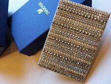 Swarovski Crystal Gold Leather Card Holder / Wallet Sparkling Crystals and Beads