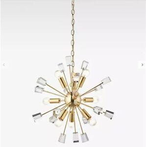 Pendant Ceiling Light, Satin Brass, Art-Deco style John Lewis, new unused