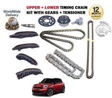 FOR BMW MINI COUNTRYMAN ONE 1.6 DIESEL 2010-> UPPER + LOWER TIMING CHAIN KIT SET
