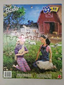 Barbie on the Farm 25 Piece Tray Puzzle #42584 Vintage 1999