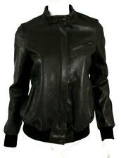 HAIDER ACKERMANN Raisin Brown Leather Hidden Zip Biker Jacket 38