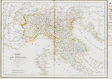 Carte de l'ITALIE du NORD - 1836. 34 x 49 cm., Delamarche